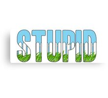 Same Trailer Different Park: Stupid [Song Title] Canvas Print