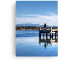 What a day for fishing Canvas Print