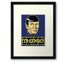 Think! Framed Print