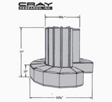 Cray-1 Supercomputer t-shirt by flashman