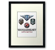 Wargaming MMO Logos Framed Print