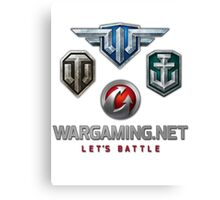 Wargaming MMO Logos Canvas Print