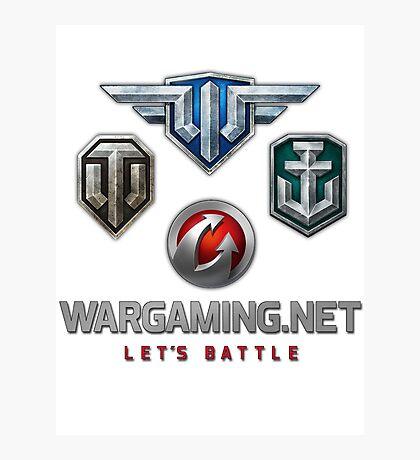 Wargaming MMO Logos Photographic Print