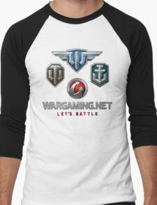 Wargaming MMO Logos Men's Baseball ¾ T-Shirt