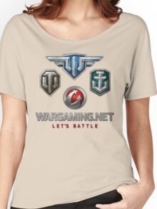 Wargaming MMO Logos Women's Relaxed Fit T-Shirt