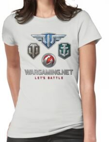 Wargaming MMO Logos Womens Fitted T-Shirt
