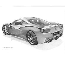 Ferrari 458 Italia Photographic Print