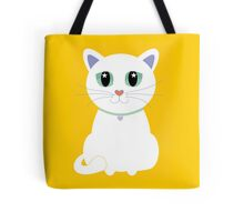 Only One White Kitty Tote Bag