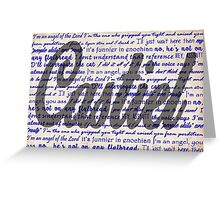 Castiel quotes Greeting Card