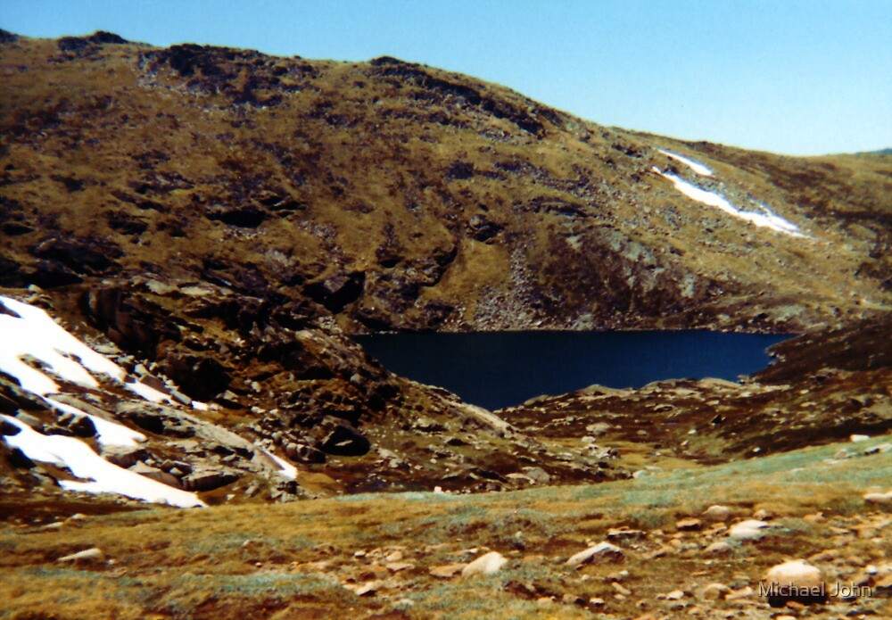 Blue Lake, Mt Kosciuszko by Michael John