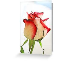 Fractalius Rose Bud Greeting Card