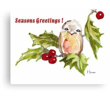 1 Little Bird - Season's Greetings! Canvas Print