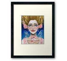Marie Antoinette Let them eat cupcake in pink Framed Print