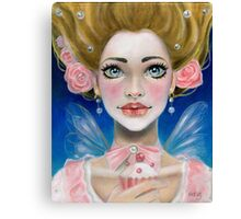 Marie Antoinette Let them eat cupcake in pink Canvas Print