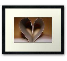 """""""Book of Love"""" Framed Print"""