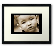 sad boy Framed Print