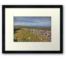 Stone Walls in The Burren Framed Print