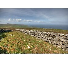 Stone Walls in The Burren Photographic Print