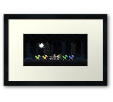 Cloud's Chocobo Squad Framed Print
