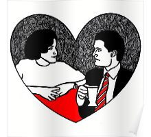 Cooper and Audrey Twin Peaks Poster