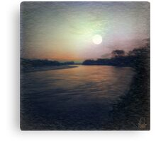 Full Moon - Upper Magdalena River - Colombia Canvas Print