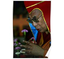 nyingma hat. HH Dalai Lama, northern india Poster