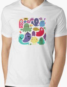 Colorful Creatures Mens V-Neck T-Shirt