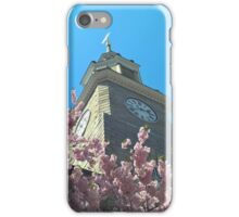 Cherry Blossom Clock Tower iPhone Case/Skin