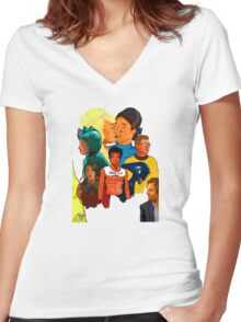 Epidemiology Women's Fitted V-Neck T-Shirt