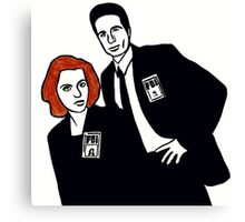 X-Files Mulder and Scully Canvas Print