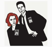 X-Files Mulder and Scully Kids Clothes