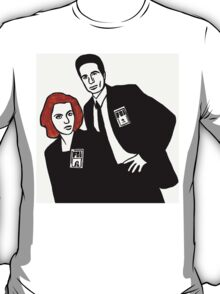 X-Files Mulder and Scully T-Shirt