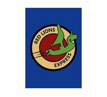 Red Lions Express Art Print