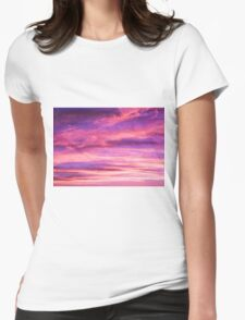 pink sky Womens Fitted T-Shirt