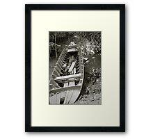 Sunken Canoe Framed Print