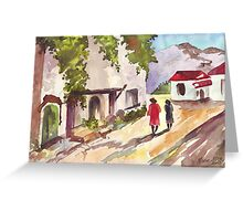 Cape Winelands Homestead Greeting Card