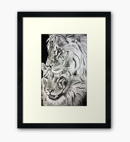 Brothers - Graphite Pencil Framed Print