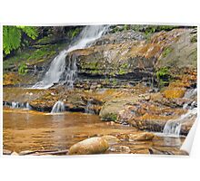 Katoomba Cascades - By the Rockpool Poster