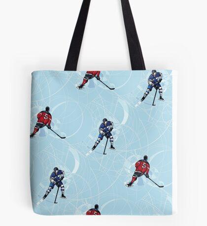 Ice hockey pattern Tote Bag