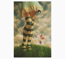 Cute Girl with Striped Socks Kids Clothes