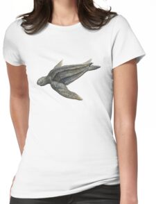 Leatherback Sea Turtle Womens Fitted T-Shirt