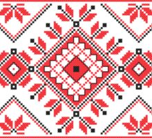 Red and Black Knitting Pattern 2 Sticker