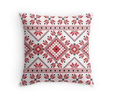 Red and Black Knitting Pattern 2 Throw Pillow