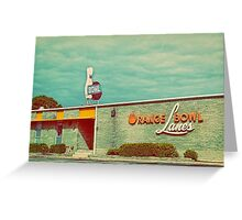 orange bowl lanes Greeting Card