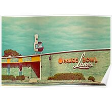 orange bowl lanes Poster