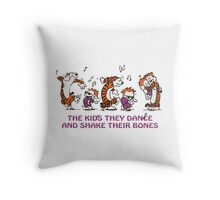 The kids they dance and shake their bones! Throw Pillow