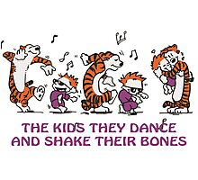 The kids they dance and shake their bones! Photographic Print