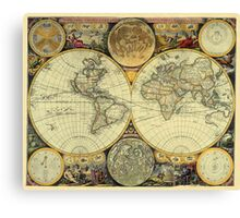 World Map 1675 Canvas Print