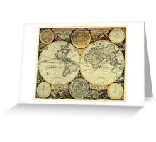 World Map 1675 Greeting Card