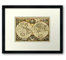 World Map 1641 Framed Print